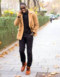 brown pea coat mens cardigan dress shirt original fashion style tweed
