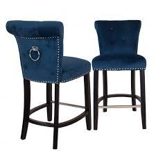 royal blue bar stools. Plain Stools Breakfast Bar Stool With Knocker  Royal Blue Velvet And Stools Chic My Room