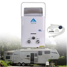 6l portable outdoor shower lpg propane gas tankless instant hot water heater boiler shower head