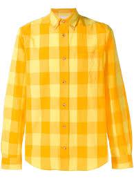 Yellow Designer Shirt Mens Acne Studios Isherwood Checked Shirt Yellow In 2019