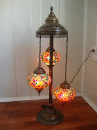 turkish handmade 3 ball mosaic floor lamp