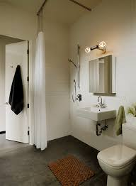 modern lighting bathroom. Small Bathroom Lighting Modern With Curbless Shower Vanity Lighting. Image By: Schwartz And Architecture M