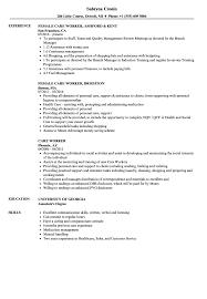 Care Worker Resume Care Worker Resume Samples Velvet Jobs
