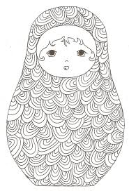 Matryoshka Colouring In For Adults
