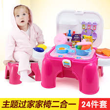 2016 juguetes kids kitchen new beautiful happy makeup dressing table stool chairs game kitchen toys