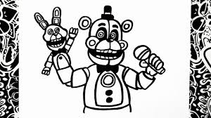 Golden Freddy Coloring Page Ftwapme