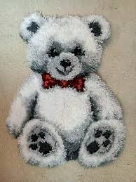 grey dunelm teddy bear rug 25 00 pic uk