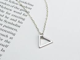 triangle necklace small silver triangle