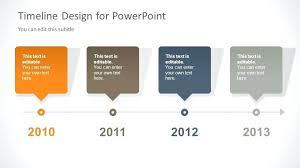 Timeline Powerpoint Slide Timeline Slide Design For With 4 Milestones Timeline
