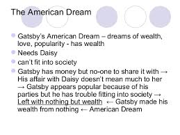 student collaborative notes on the novel the great gatsby by fitzgera the american dream iuml129notgatsby s