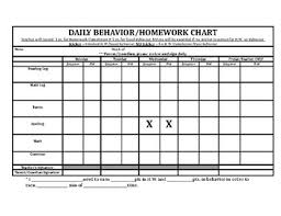 Homework Chart For Parents Homework Completion Chart