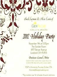 Christmas Party Invitations Business Wording Tinajoathome