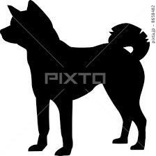 秋田犬のシルエットのイラスト素材 8658482 Pixta