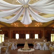 white chiffon ceiling d ds wedding prev diy kit dry fabric for party decoration