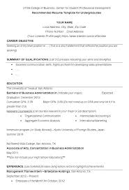 Business Administration Resume Objective Resume Pro