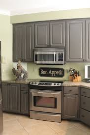 Dark Gray Cabinets Kitchen Gray Kitchen Cabinets With Green Walls Quicuacom