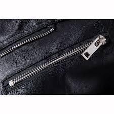oblique zipper punk pu leather pu leather jacket slim fit halley motor jacket for men