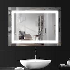 Large Light Mirror Ansche 800 600mm Led Illuminated Bathroom Mirror Light