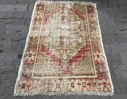 small size runner rug 2 6 3 6ft vintage oushak rug red door mat rug oushak runne