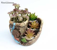 Creative <b>Antique</b> Wooden <b>Flower Pots</b> For Succulents Imitation ...