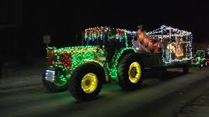 Lighted Tractor Parade Granville Christmas Tractor Parade 2017