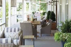 Narrow balcony furniture Living Room How To Arrange Your Long Narrow Porch Ballard Designs 15 Ways To Arrange Your Porch Furniture