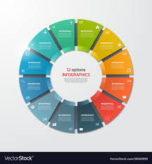Pie Chart Infographic Template 12 Options