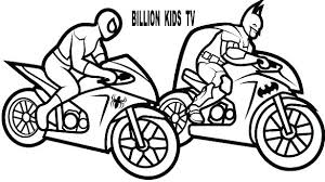 Free Printable Motorcycle Coloring Pages Colouring Police Color Of