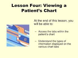 Patient Chart Tabs Lesson Four Viewing A Patients Chart Ppt Download