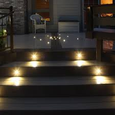 deck stair lighting ideas. image of recessed stair lighting dots deck ideas
