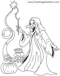Halloween Witch Pictures To Color M1774 Hard Coloring Pages Advanced