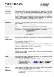 College Resume Template 2018 Classy College Student Resume Examples 28 Professional Resume Templates