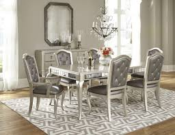 Bobs Furniture Kitchen Table Set Diva Metallic Rectangular Extendable Leg Dining Table From Samuel