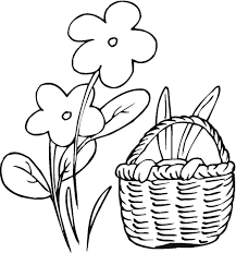 Large Easter Bunny Coloring Page Printable Coloring Page For Kids