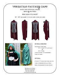 Cape Sewing Pattern Gorgeous Versatile Fantasy Cape Sewing Pattern Fantasy Roman Cloak Etsy