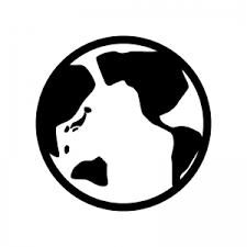 地球のシルエットイラスト 無料のaipng白黒シルエットイラスト