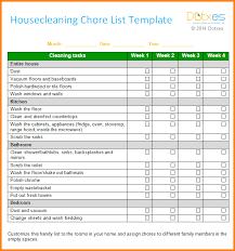 Weekly Household Chore List 8 Chore List Template Memo Templates