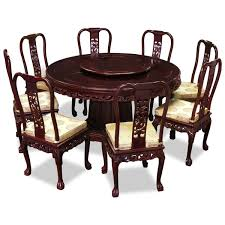 Round Kitchen Tables For 8 60in Rosewood Imperial Dragon Design Round Dining Table With 8