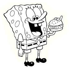Baby Spongebob Printable Coloring Page Free