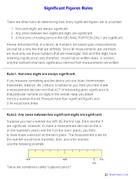 sig figs google sheets significant figures worksheets printable significant figures