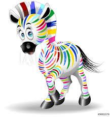 Wall Murals Zebra Cartoon Quadricromia Four Color Process Zebra