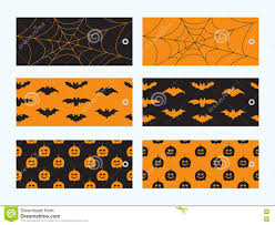 Halloween Gift Cards Set Of 6 Halloween Gift Cards Stock Vector Illustration