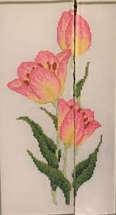 Sue Page Cross Stitch Designer Tulips By Sue Page Magazine Chart Fun With Cross