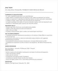 Stylish Design Auto Technician Resume Mechanic Resume Template 6
