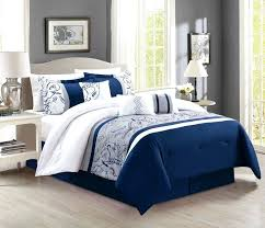 white curtains grey simple bed bedding wooden bedside with regard to navy and cream duvet design blue sets