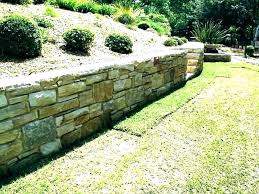 building a stone retaining wall on a slope building stone retaining wall on slope