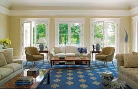 blue patterned rug living room traditional with blue and white yellow and blue living room design