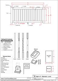 Vinyl Railing Installation Instructions Specifications Shop Drawings