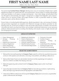 Construction Project Manager Resume Template Resume Letter Collection