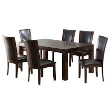 Glass top dining sets Oval Iohomes 7pc Tempered Glass Top Dining Table Set Wooddark Cherry Target Target Iohomes 7pc Tempered Glass Top Dining Table Set Wooddark Cherry